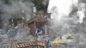 Christmas crib in Furnas