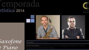 Temporada Artística 2014 - Concierto de saxofón y piano